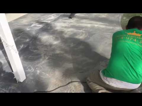 Epoxy Painting A Concrete Patio By Crown Construction Free