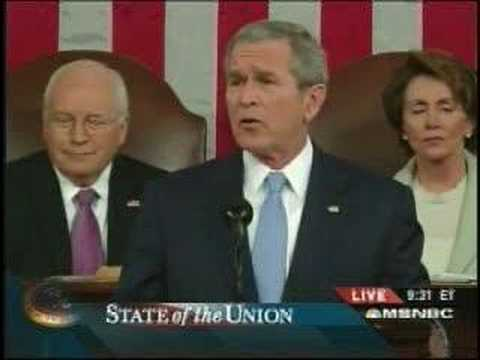 Dick Cheney Smirking During State of the Union Address