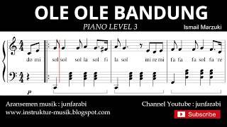 notasi balok ole ole bandung - piano grade 3 - lagu daerah jawa barat - instrumental