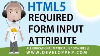 HTML 5 tutorial Required Form Field Input Attribute Example
