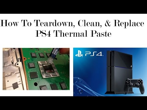 | BEST | PS4 Teardown and How to Apply Thermal Paste, Loud fan noise Fix! Cooler PS4