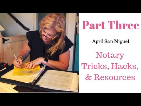 Part THREE! The Q & A Notary Session With April San Miguel & Notary Coach