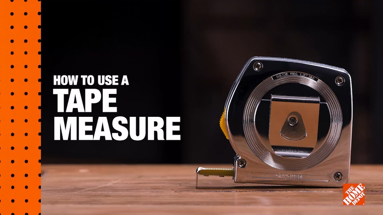 How To Read A Tape Measure Diy Digital Workshops The Home Depot Youtube