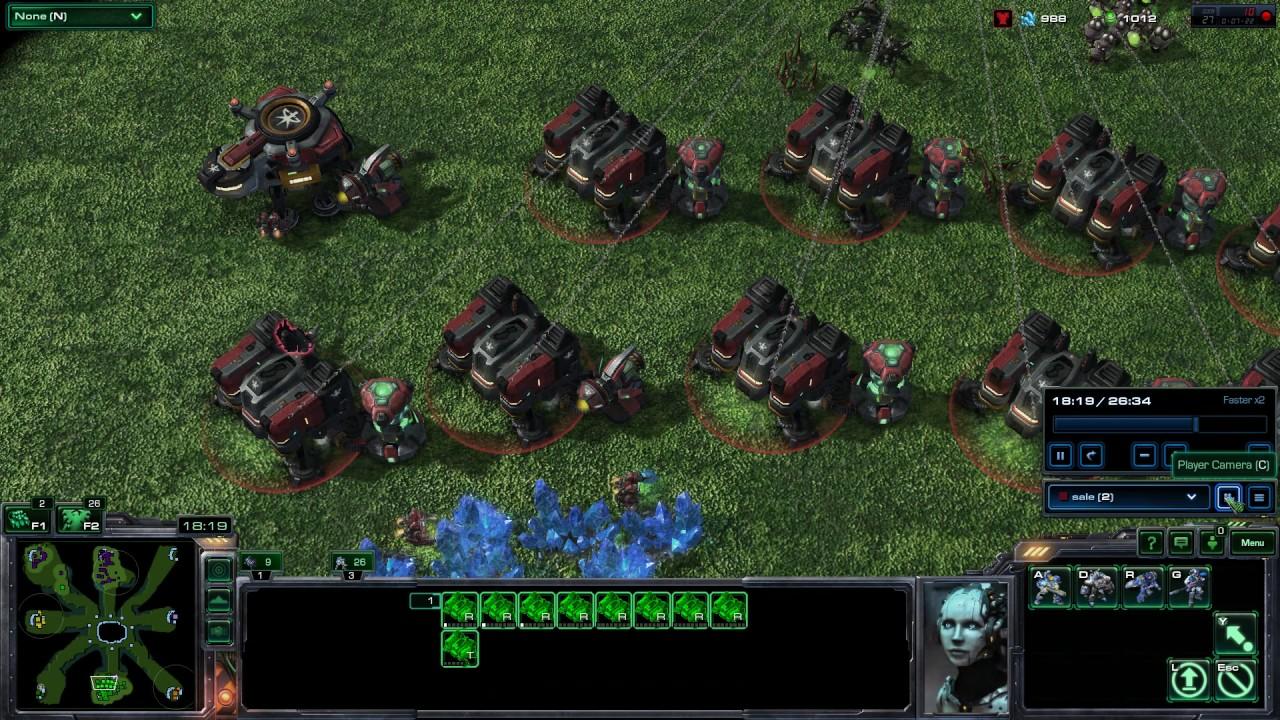 StarCraft 2 - Battle Net - Big Game Hunters ( no limit units )