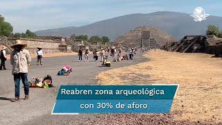 El sitio prehispánico abrió sus puertas en punto de las 9 horas