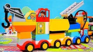 レゴ デュプロ くるまとトラックを紹介するよ♪ はたらくくるま LEGO DUPLO My First Cars and Trucks Toys for kids thumbnail