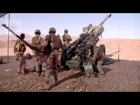 Artillery Marines M777 Howitzer Fire Missions