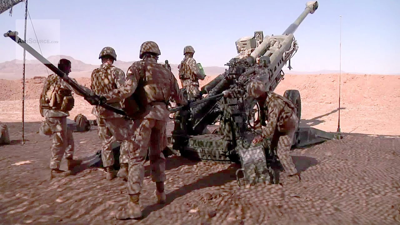 Artillery Marines M777 Howitzer Fire Missions - YouTube