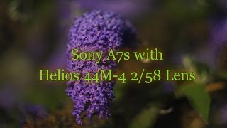 Sony A7s Camera Body with Helios 44M-4 2/58 Lens