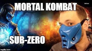 Mortal Kombat Sub Zero Pepakura Mask