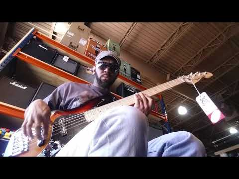 Sam Johnson bass player Tampa music store(2)