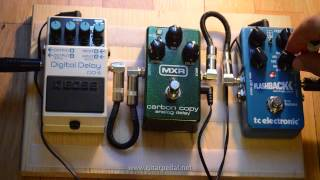 TC Electronic Flashback Delay vs. MXR Carbon Copy vs. Boss DD6 (Fender Blues Jr. and Stratocaster)