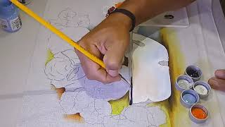 Novo Projeto/ Aprenda a Pintar Tigela esmaltada – Parte 2