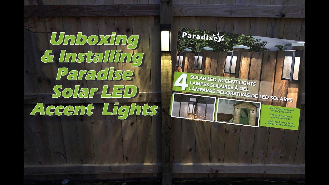 Paradise Solar Led Accent Lights Set Of 4 Costco