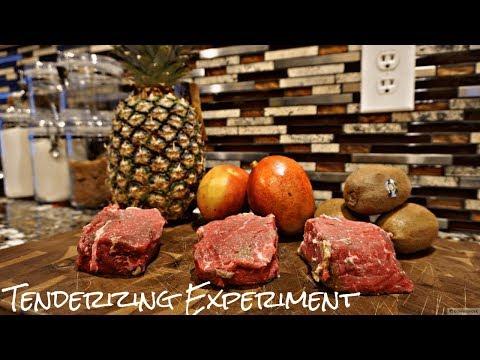 Steak TENDERIZING EXPERIMENT- Tropical Fruit edition!