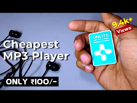 Cheapest iPod/ Mp3 Player in India... Just 100/- Rupees