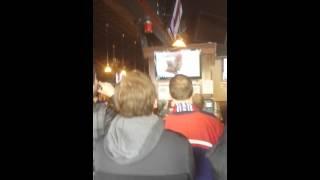 Crazy Reaction to USA hockey victory in Buffalo NY