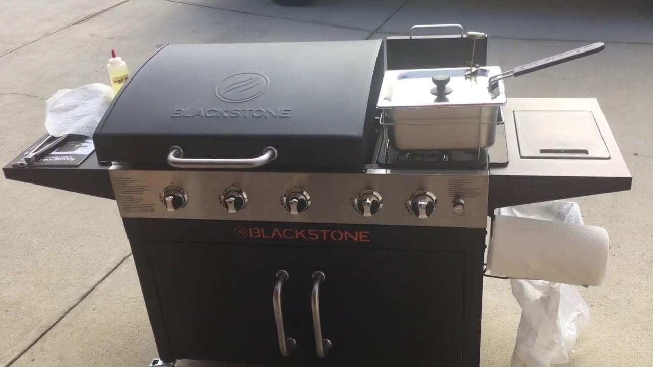 Blackstone Griddle Rangetop Combo Unboxing Assembling And