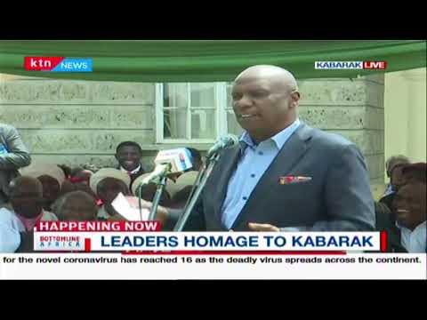 Leaders pay homage to Gideon Moi at Kabarak | Bottomline Africa
