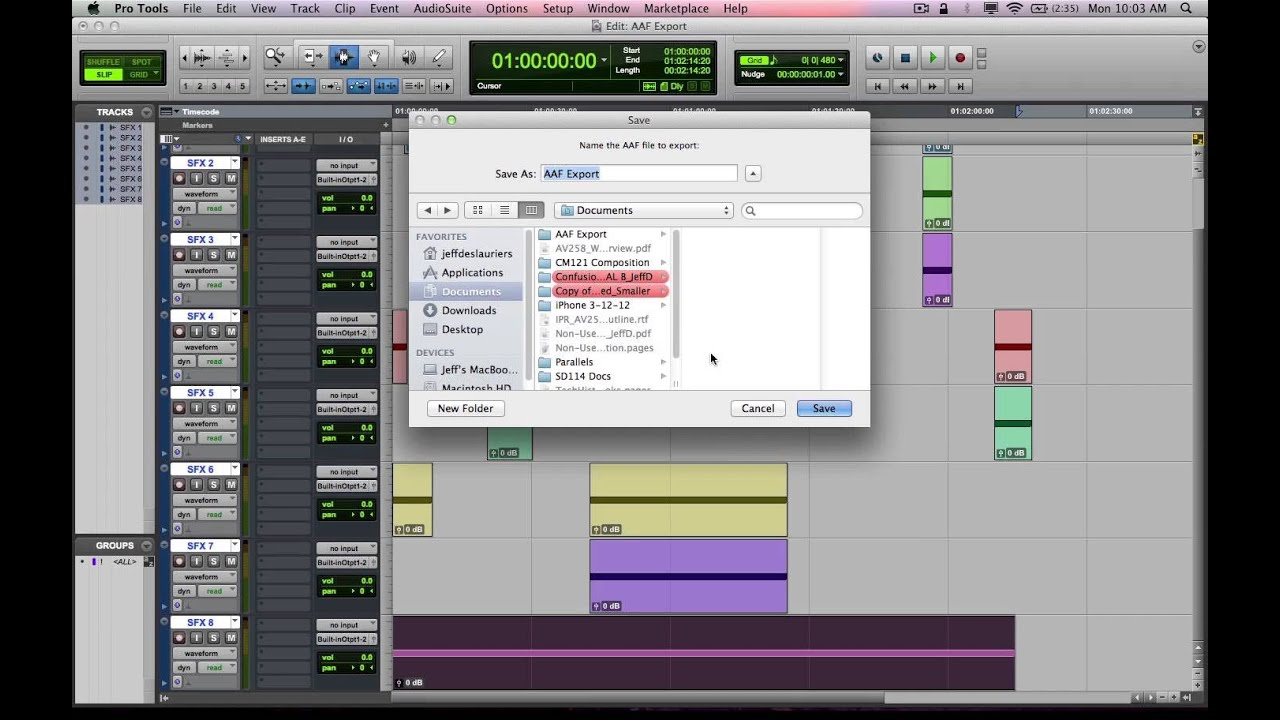 Pro Tools 10 AAF/OMF Export/Import Tutorial