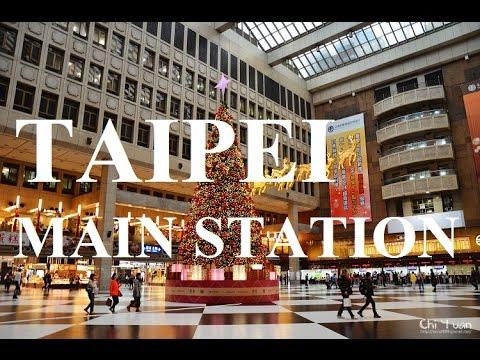 Taipei Main Train Station Walk Around 台北火車站 - Taiwan Trip Part 5