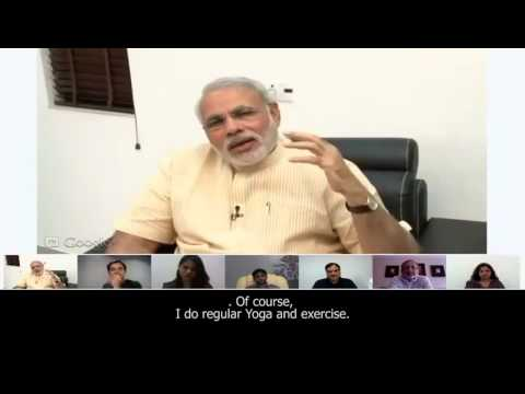 Shri Modi speaks about his eating habits & secret behind the Modi Kurta (with subtitles)