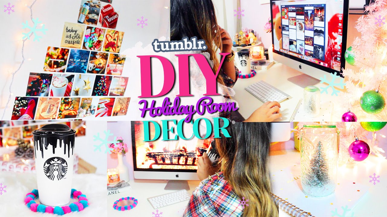 Diy tumblr holiday room decor get inspired for christmas for Diy room decorations youtube