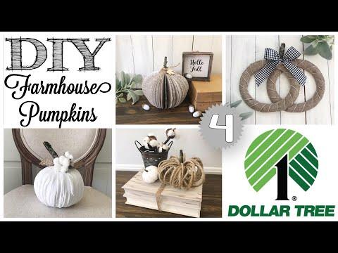 DIY Dollar Tree Fall Decor  | 4 PUMPKINS!