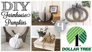 DIY Dollar Tree Fall Decor  | 4 PUMPKINS!