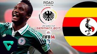 Nigeria vs. Uganda | CAF | Road To World Cup Germany 2017 | FIFA 14