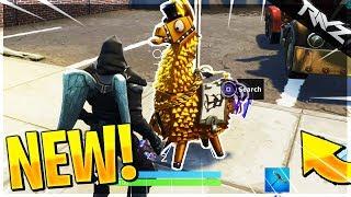 TRIPLE EVERYTHING! New HIDDEN Gold Llama Easter Egg Glitch! (Fortnite Battle Royale)