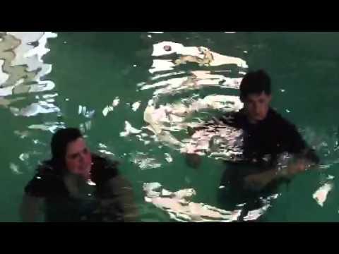 Alisa pool jump + surprise