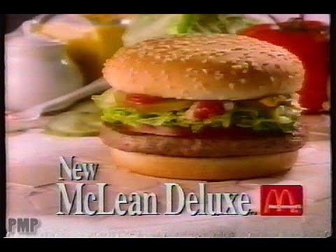 McDonald's McLean Deluxe Hamburger Commercial (1992)