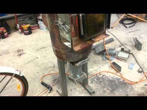 Wood burner to waste oil burner