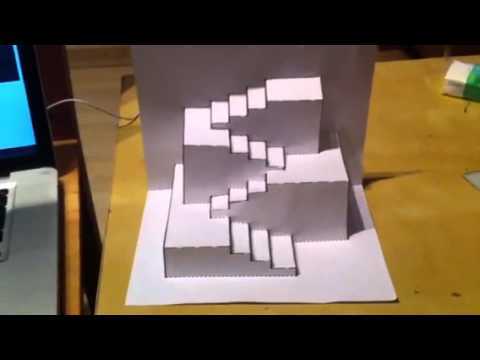 Escalera de papel youtube for Como hacer gradas