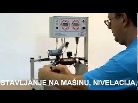 Balans mašina za rotore ručnih alata - YouTube