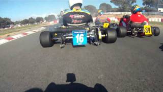 2011 Australian Karting Championships, Clubman Heavy Heat 1, onboard Simon Gwilliam