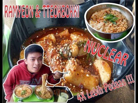 Nyobain Nuclear Ramyeon & Tteokbokki! Mau Pingsan Rasanya (Mukbang Indonesia) | Korean Learning