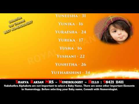 GIRL BABY NAME STARTING WITH Y 6  - HINDU INDIAN GOD LORD DEVINE BABY NAME  9842111411