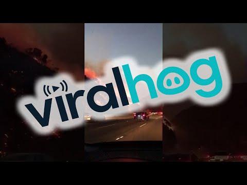 Brentwood Fires in Los Angeles || ViralHog