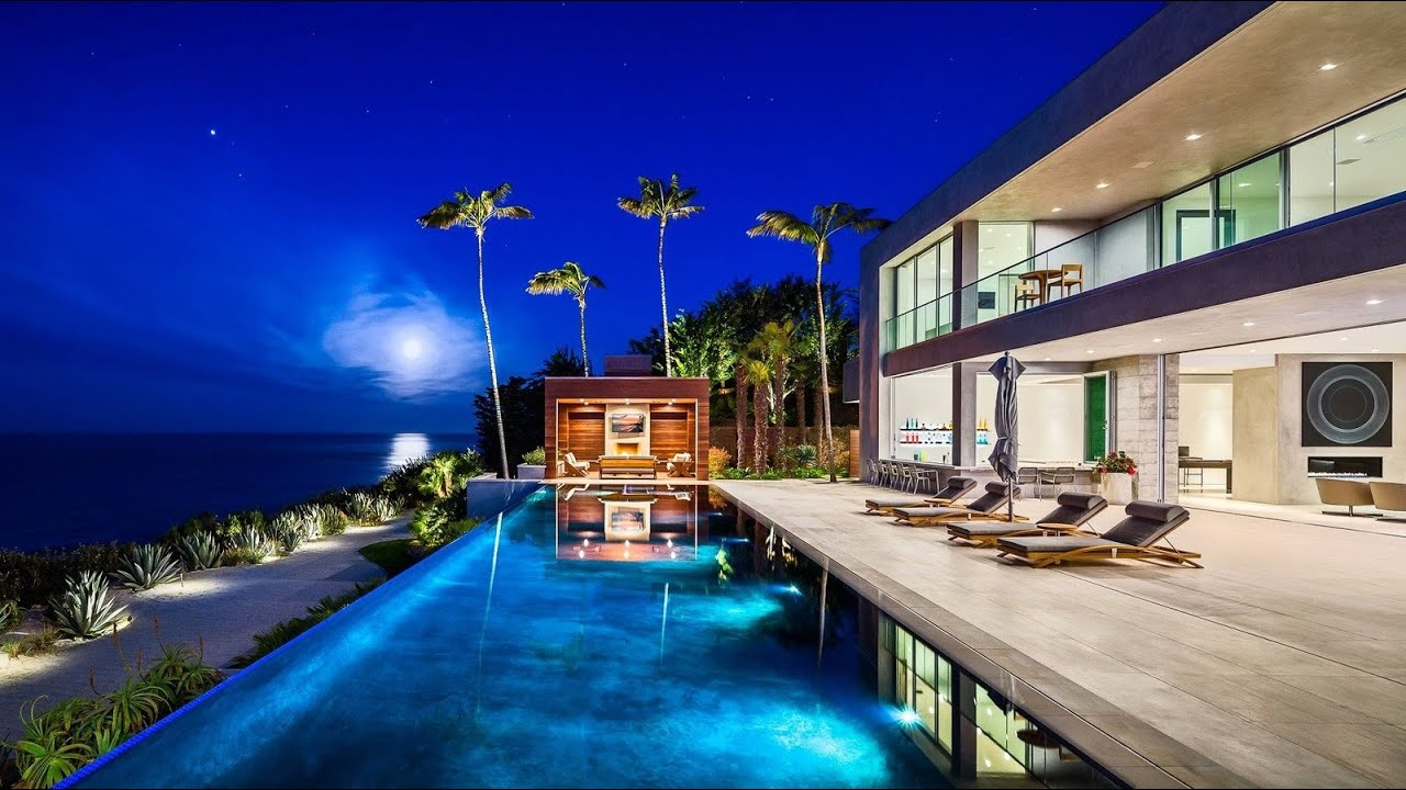 $27.9 Million Stunning Oceanfront Contemporary Residence in Malibu, CA, USA - YouTube