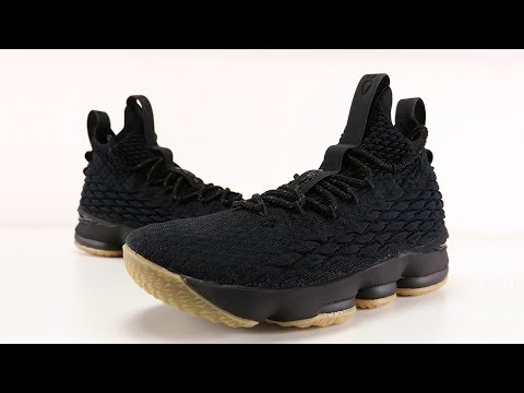 buy online 84f31 48b18 NIKE LEBRON 15 BLACK GUM REVIEW + ON FEET - YouTube