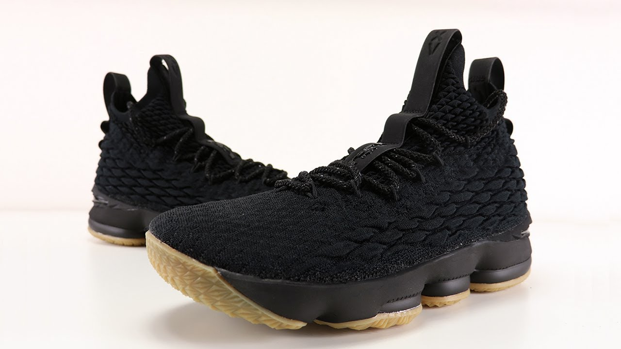 check out 42347 9f687 NIKE LEBRON 15 BLACK GUM REVIEW + ON FEET