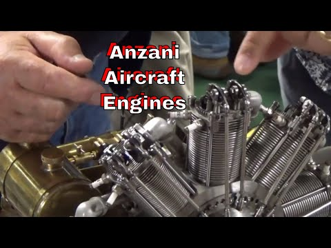 DuB-EnG: Anzani Aircraft Fan Engines 2, 3 and 9 Cylinder rotary 1/4 scale hand made working models