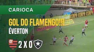 GOL (HENRIQUE DOURADO) - FLAMENGO X BOTAFOGO - 10/02 - CARIOCA 2018