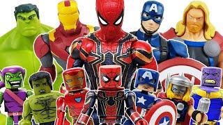 Avengers Minimates Go~! Spider-Man, Thor, Hulk, Iron Man, Captain America, Thanos