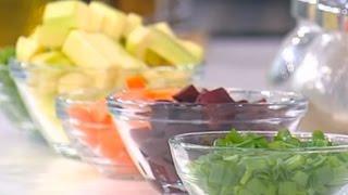 Теплый салат из овощей
