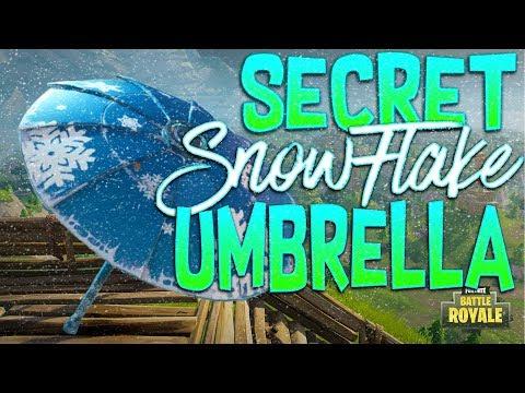 Fortnite Battle Royale Secret Snowflake Umbrella - How To Unlock The Secret Snowflake Umbrella