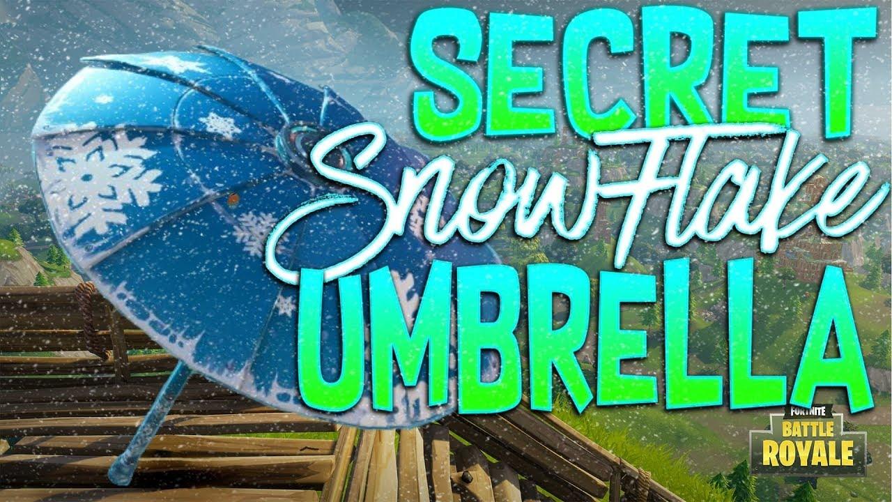 fortnite battle royale secret snowflake umbrella how to unlock the secret snowflake umbrella - fortnite snowflake umbrella