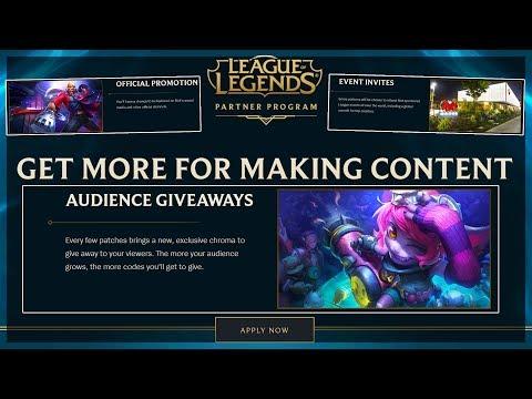 NEW RIOT CREATOR PROGRAM FREE SKINS PROMOTION & MORE League of Legends